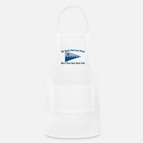 Club Aprons - yacht club - Apron white