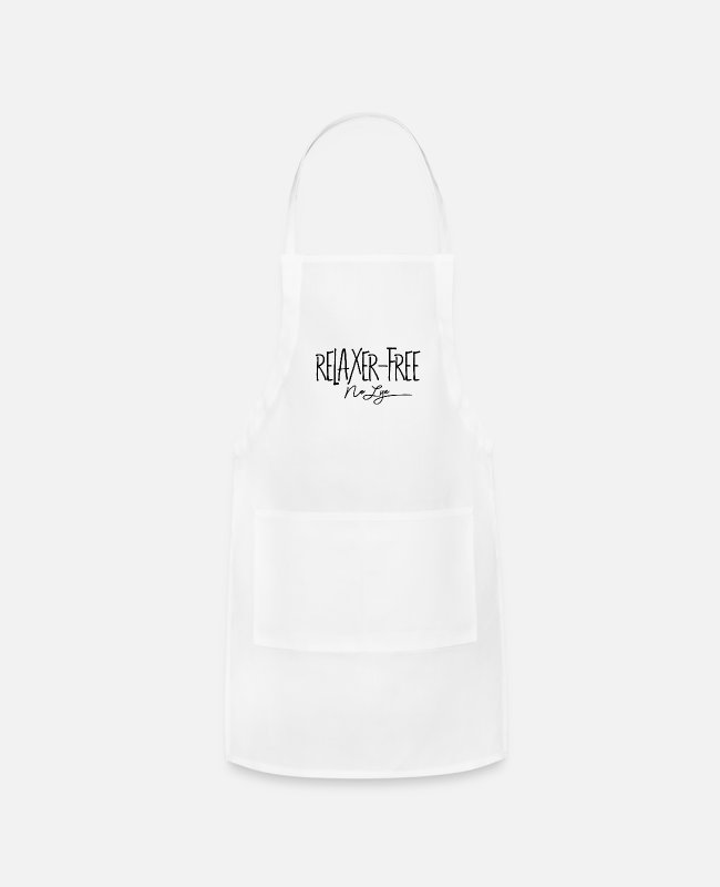 Natural Hair Aprons - Relaxer Free No Lye - Apron white