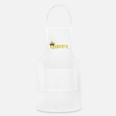 Gold GOLD QUEEN CROWN GEMS AND DIAMONDS - Apron