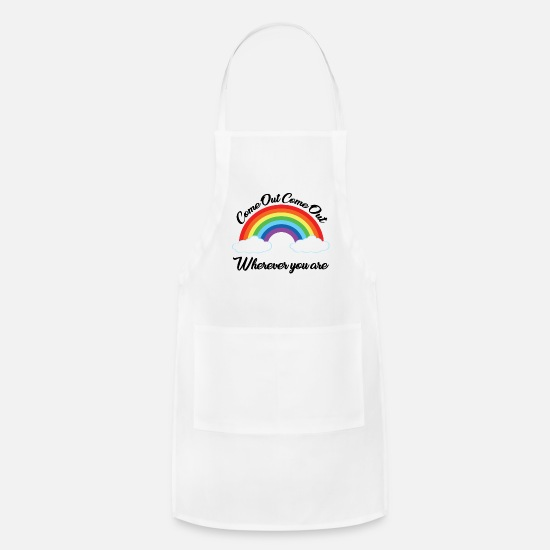 Outlaw Aprons - Come out, come out, wherever you are - Apron white