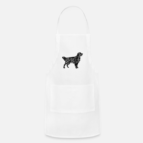Golden Aprons - Golden Retriever - Apron white
