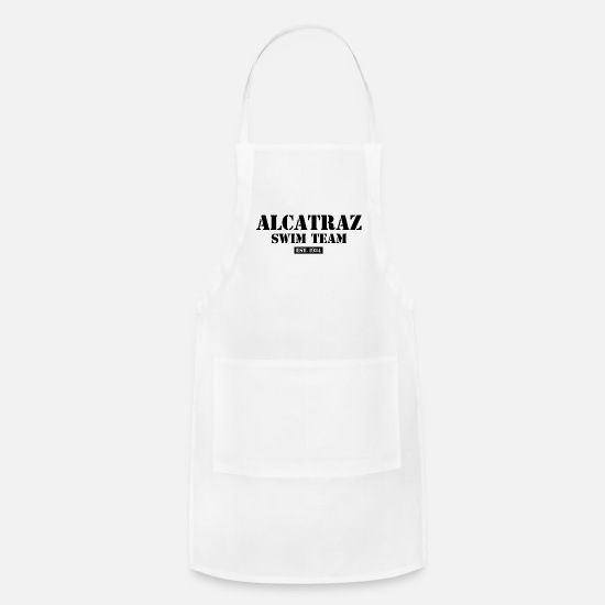 Team Spirit Aprons - Alcatraz Swim Team - 1934 - California - Prison - Apron white