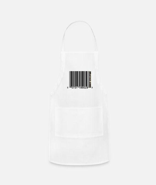 Game Aprons - Ramseys Bar-Coding - Apron white