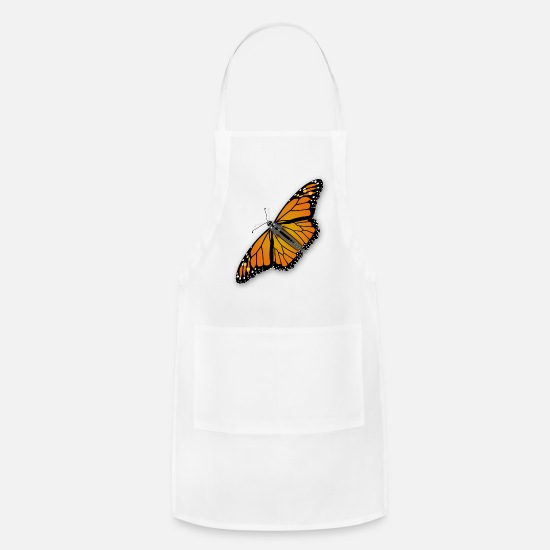 Monarch Aprons - Jimmiet Monarch Butterfly - Apron white