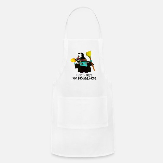 Typography Aprons - Let s Get Wicked - Apron white