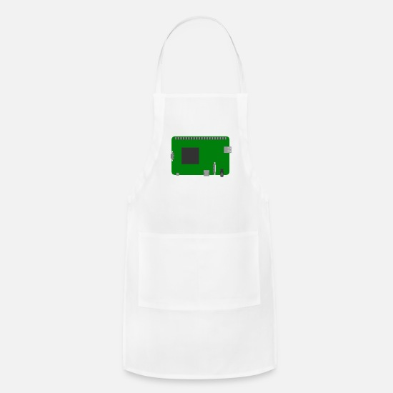 Wasp Aprons - Raspberry Pi Board - Apron white