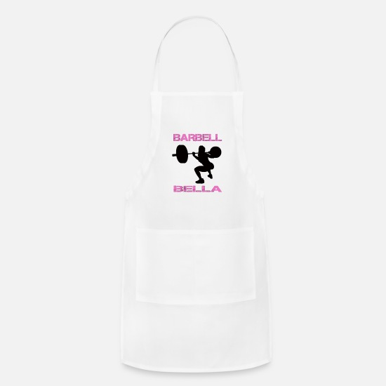 Lift Aprons - Barbell Bella - Apron white