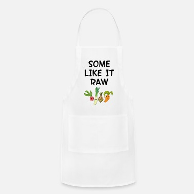 Diet Some like it raw. Raw foods diet. Veggies. - Apron