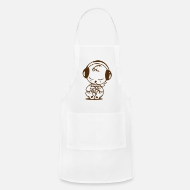 Mp3 Little bear with an MP3 Player - Apron
