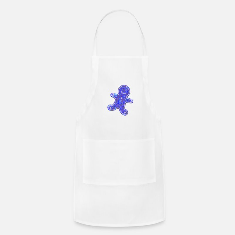 Bread Aprons - Gingerbread Man - Apron white