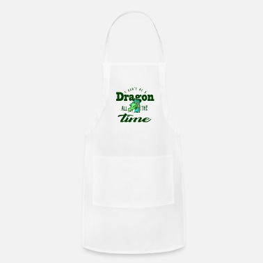 Dragonfly Gift Green Earth Dragon Saying Dragon Head Shirt - Adjustable Apron