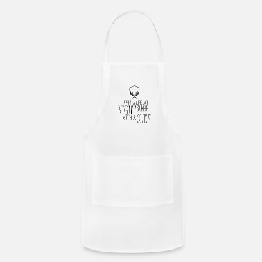 Private Chef feel safe at night funny design present ideas - Apron