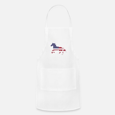 Barbecue American Flag Horse Happy 4th of July - Apron