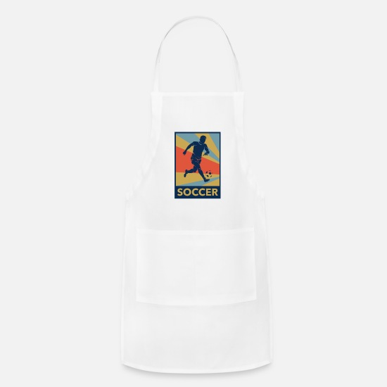 National Team Aprons - Soccer - Apron white