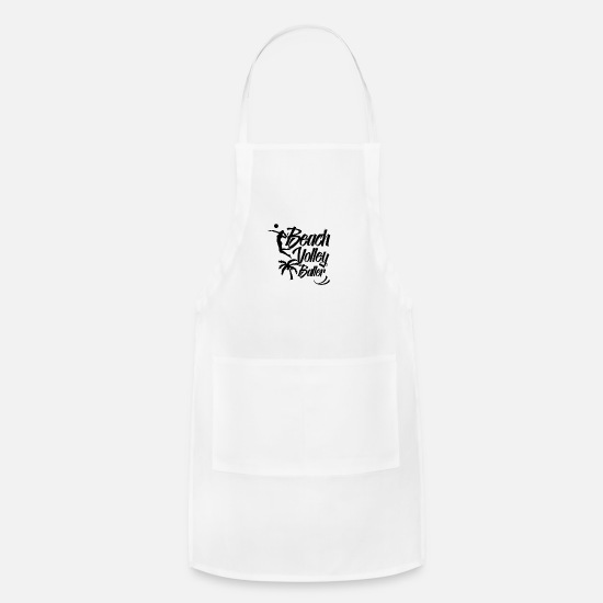 Volleyball Team Aprons - Volleyball Volleyball Volleyball Volleyball - Apron white