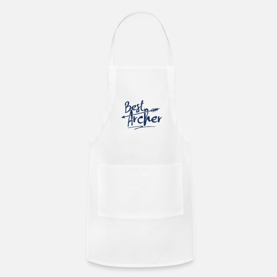 Arrow Aprons - Compound Bow Archer Arrow Archery Bow - Apron white