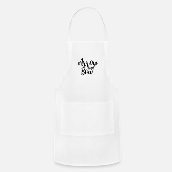 Arrow Aprons - Archery arrow and bow - Apron white