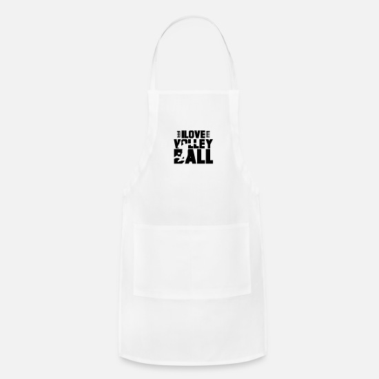 Volleyball Team Aprons - Player Volleyball Vollyball Volleyballer Team - Apron white