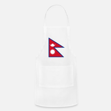 Resin Nepal Flag - Adjustable Apron