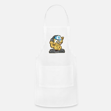 Musical DJ CAT Cat Turntable Music MC Comic - Apron