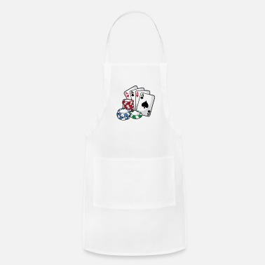 Holdem POKER CARDS AND CHIPS Texas Holdem Casino Vegas - Apron