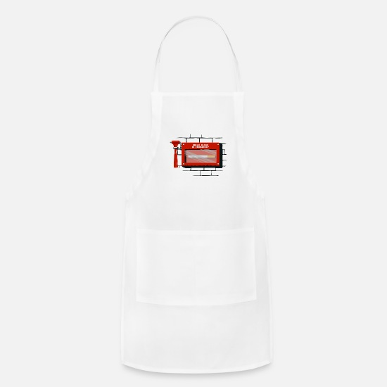 Birthday Aprons - Emergency cigarette tip smoker non-smoke nonsmoker - Apron white