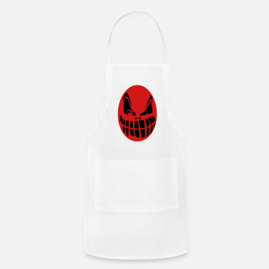Red Face Red color scary face - Apron