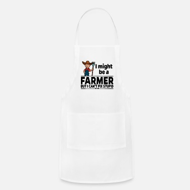 Wife Proud Farmer Landwirt - Can't Fix Stupid - Adjustable Apron