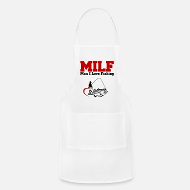 Milf Milf Shirt for fisherman man I love fishing - Adjustable Apron