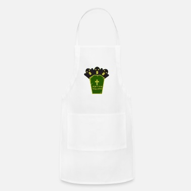 Grave Halloween with a grave - Apron