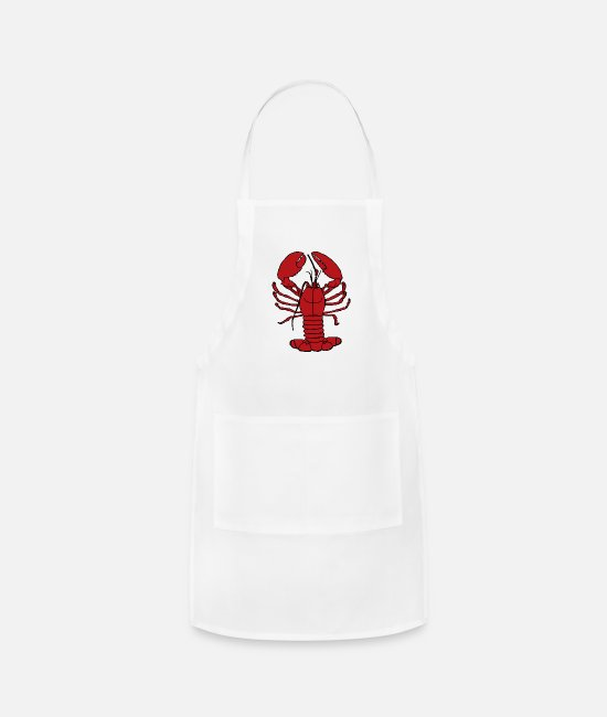 Heart Aprons - Lobster - Apron white