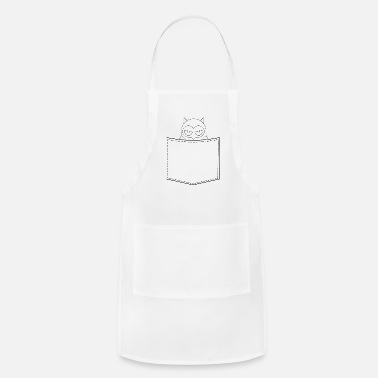 Outline Graphics Angry Owl Breast Pocket Outline Graphic - Apron
