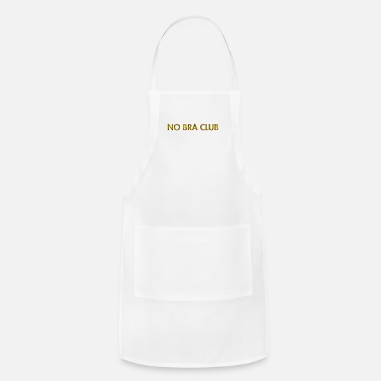 Club Aprons - NO bra club - Apron white