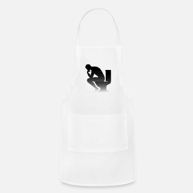 Sanitary A Man Sitting On The Toilet - Adjustable Apron