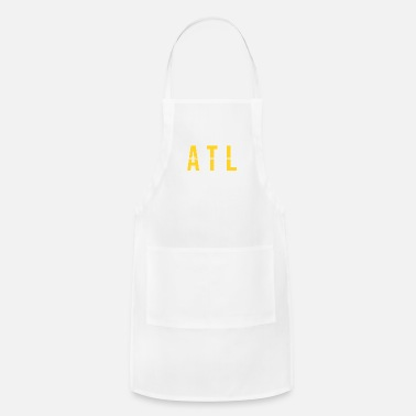 Flight Attendant ATL - Atlanta USA Airport Code Souvenir or Gift Shirt Apparel - Adjustable Apron