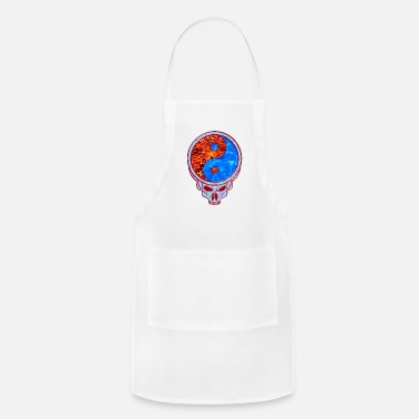 Grateful Dead Lava and Water Yin Yang Grateful Dead Style Skull - Apron