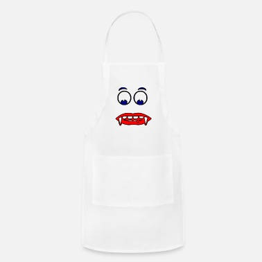 Red Face face red blur - Apron