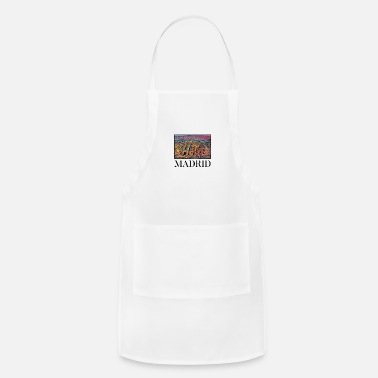 Family Vacation Madrid City Skyline Art Sights Landmark - Apron