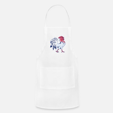 French Flag French Flag And Gallic Rooster - Adjustable Apron