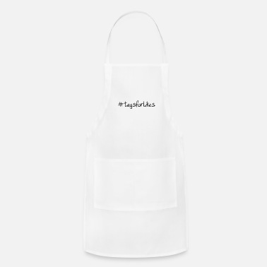 Social #tagsforlikes Hashtag Trend Cool Popular - Adjustable Apron