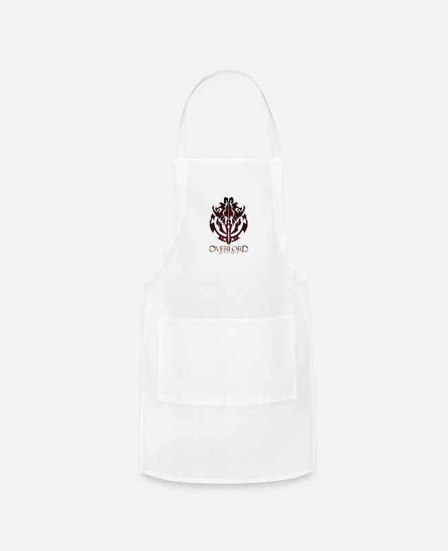 Crest Aprons - Anime - Overlord Ainz Ooal Gown Crest - Apron white