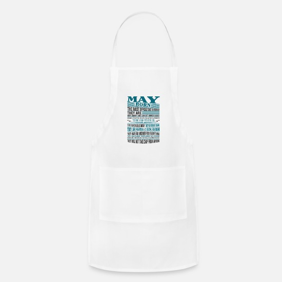 Best Aprons - Best selling born in May shirts - Apron white