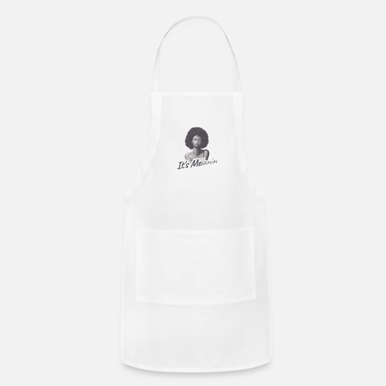 Hair Aprons - It's Melanin Gift - Apron white