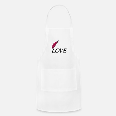 Lovely Love with feather - Apron