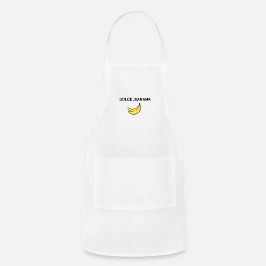 Satire dolce and banana ironic satire humor fashion trend - Adjustable Apron