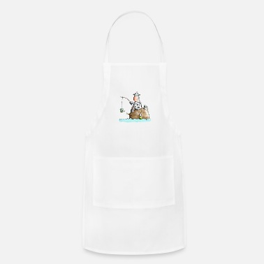 Funny Fishing Cow - Apron