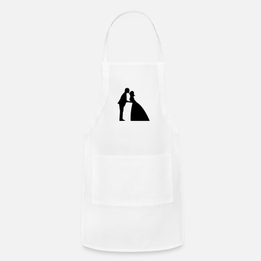 Gown Wedding kiss in bridal gown and suit - Apron