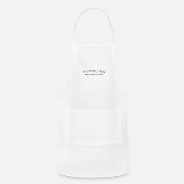 Currency currency cursive - Apron