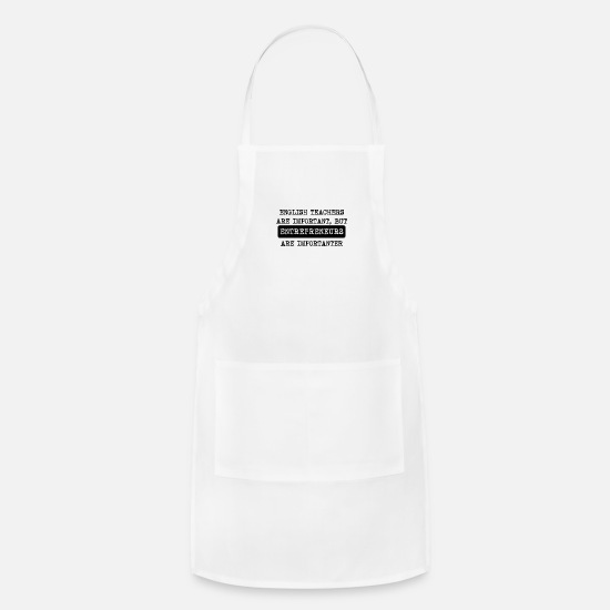 Entrepreneur Aprons - Entrepreneurs Are Importanter - Apron white