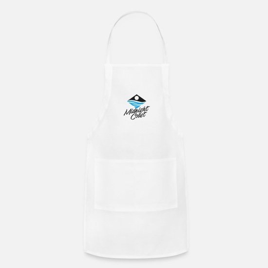 Symbol  Aprons - Midnight Coast Logo - Apron white
